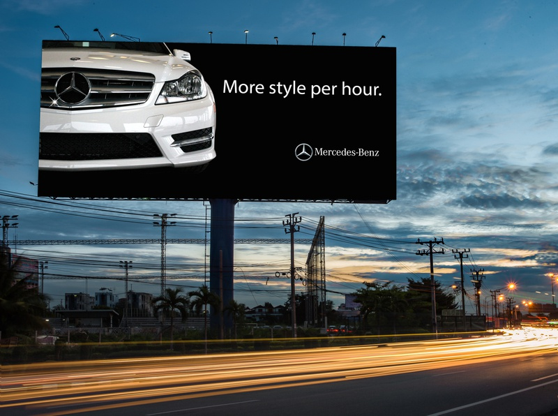 Mercedes Benz Billboard