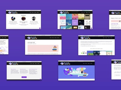 Playful Learning Pages filters branding web ui game wordpress webdesign ux playful design learning platform