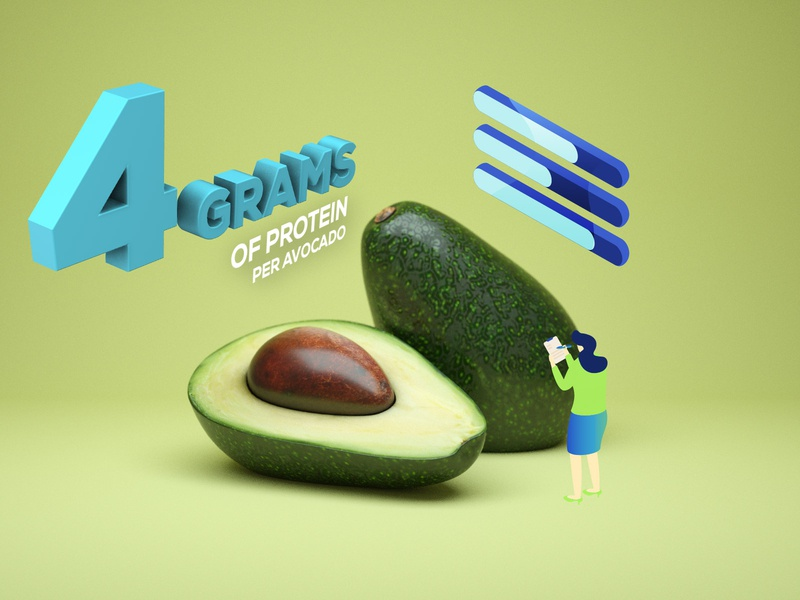 Avocado App Page Detail food app ui food app food visual design character webdesign motion design landing page web design website top ux ui designer design 3d animation branding