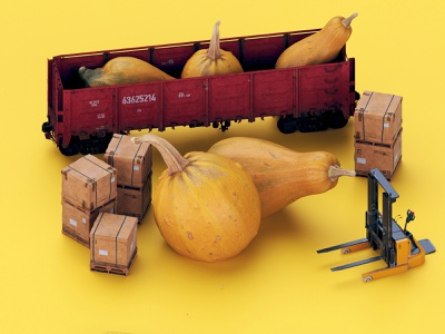 Pumpkin Transport! design 3d animation isometric clean visual design c4d cinema 4d branding 3d art 3d octane pumpkin halloween fall