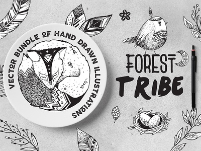 Forest Tribe Vector Illustrations