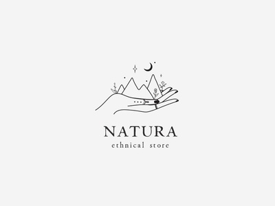 Hand logo concept