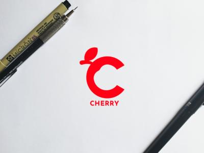 Cherry negative space creative logo concept design modern minimal clean cherry logodesign logobranding logo branding