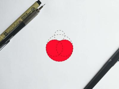 Cherry #2 creative logo concept design modern minimal clean fruit logodesign logobranding logo cherry branding