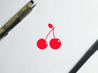 Cherry #3 creative logo concept design modern minimal clean fruit logodesign logobranding logo cherry branding
