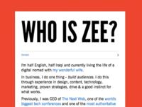 Who is Zee?