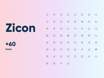 Zicon - Icon Pack zicon icon design icon set iconset icons pack icon icons
