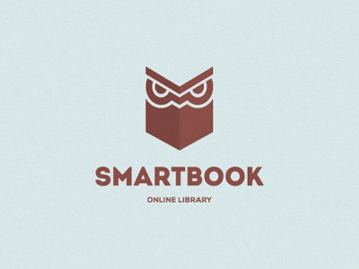 Smartbook smart book online library owl logo branding levogrin
