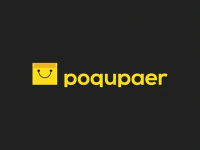 Poqupaer shop bag smile buy internet levogrin branding logo
