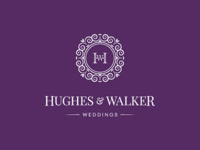 Hughes   Walker logo branding levogrin wedding agency pattern event rings bride