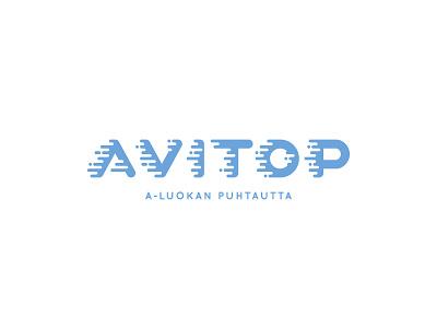 Avitop blue line water foam helsinki finland cleaning clean logo branding levogrin