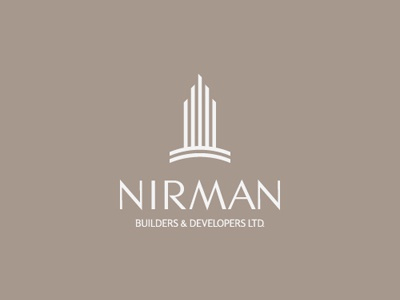 Nirman nirman construction development build building logo branding levogrin