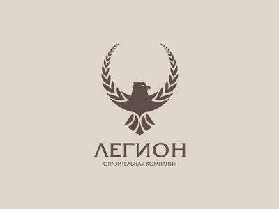Legion legion construction eagle laurel logo branding levogrin