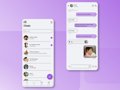 Daily UI 013/Direct Messaging messenger messaging app app ux figma ui design dailyui daily 100 challenge