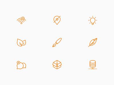 Line Icons web icon linear minimal icons design vector minimalistic minimalism