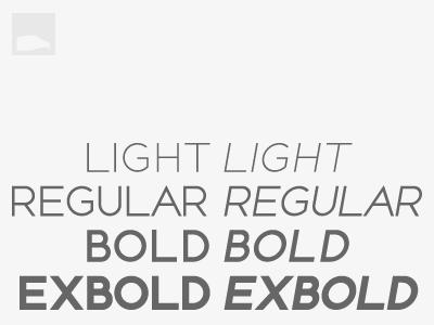 Still Unnamed font sans serif light regular bold extra ex