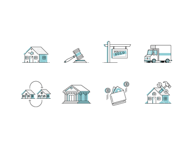 Isn't It Iconic? real estate finances business branding vector icon illustration