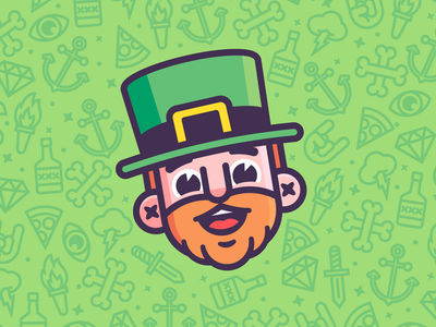 ☘️☘️ Happy St. Patty's Day ☘️☘️ leprechaun st patricks day holiday graphic design character design vector design branding illustration