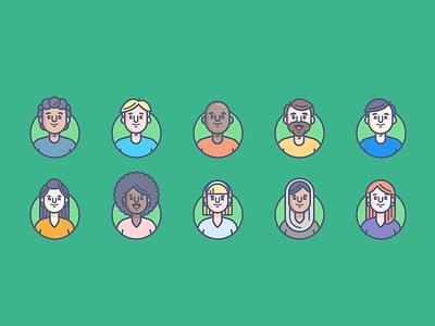 Just Face It graphic design icon avatars vector illustration character design branding