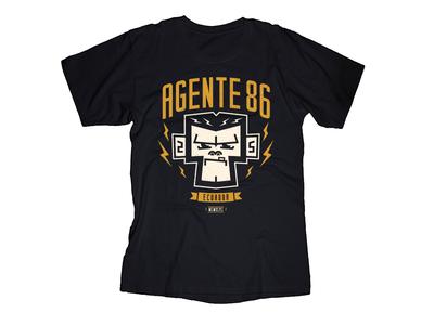 T-Shirt Agente 86! monkey tshirt apparel branding ska punk lettering typography illustration graphic design