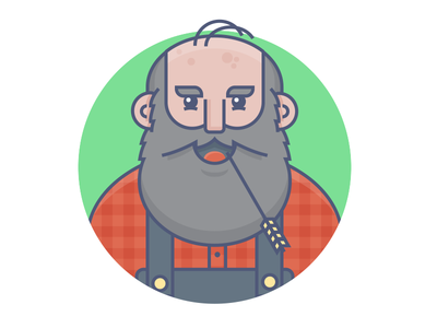 Old Man Markley old man markley bluegrass character design country hillbilly wheat old man illustration graphic design