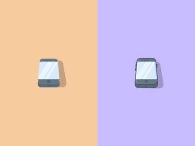 Phones! mobile phone icons illustration