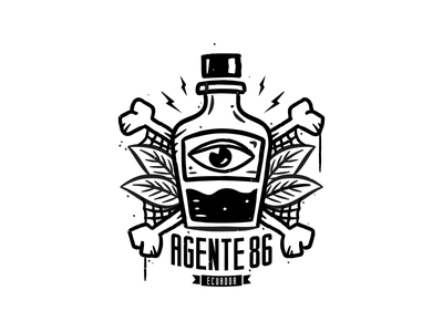 Agente 86 Old School Tee! agente 86 illustration ska merchandise punk tattoo old school graphic design