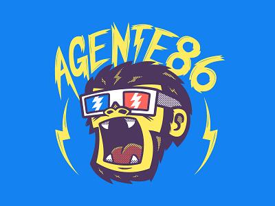 Agente 86 3D Monkee Tee! agente 86 merchandise 3d glasses monkey ska punk tshirt illustration graphic design