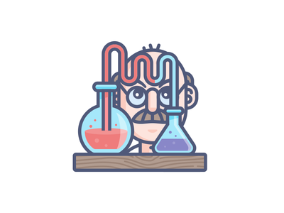 Science B*tch! science beakers scientist illustration. character design