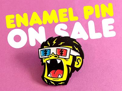 3D Monkey Enamel Pin ska punk 3d monkey pin lapel enamel