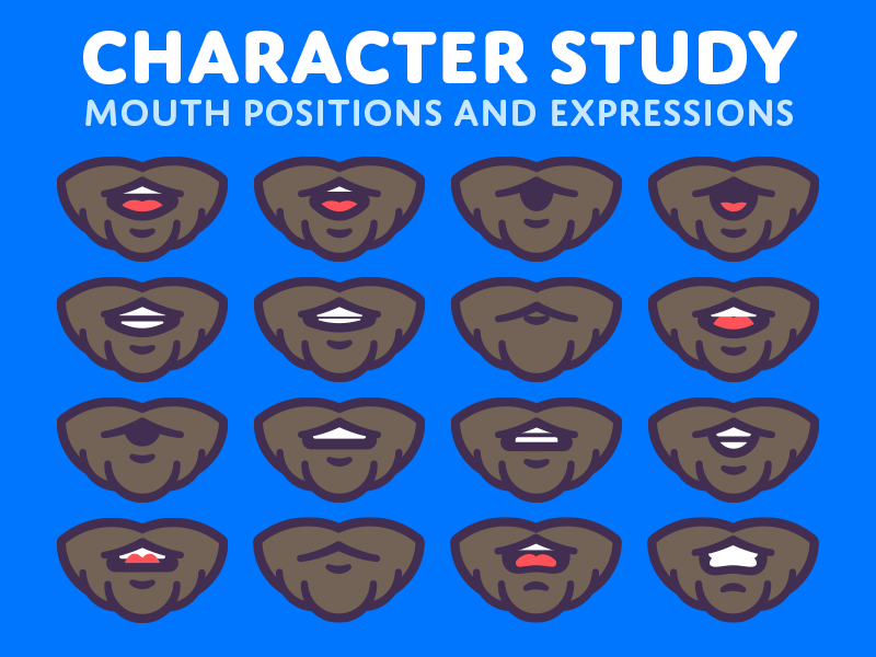 Watch your mouth! mouth illustration character design animation