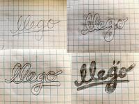 Logo llego sketches