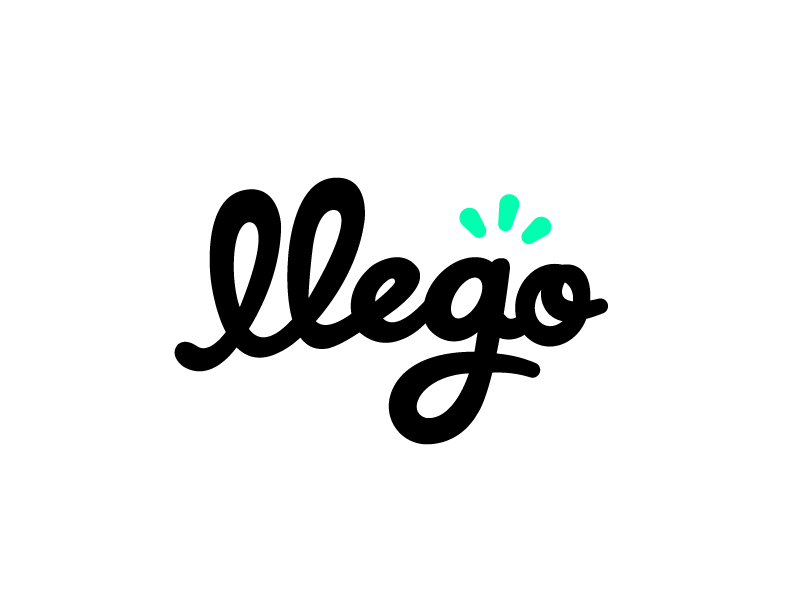 Llego! wordmark typography type script logotype logo identity hand lettering font calligraphy branding