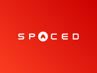 Spaced logo red