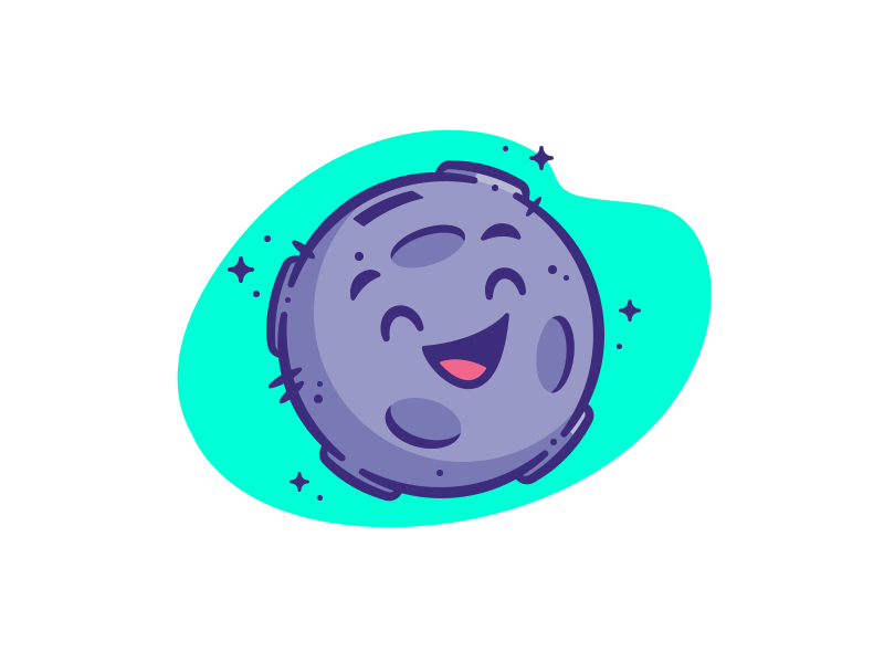 Moonbank Mascot logo avatar illustration vector mascot moon happy icon planet branding