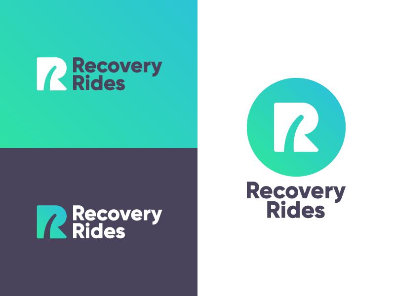 Recovery Rides Logo illustration logo branding