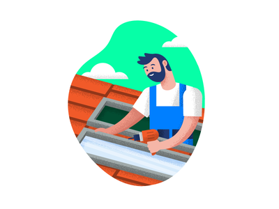 Mo' Services! drill service repair roof illustration handyman