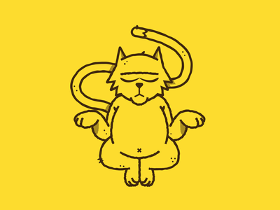 Inktober - Day 02 - Tranquil cat drawing character design cat design graphic design illustration