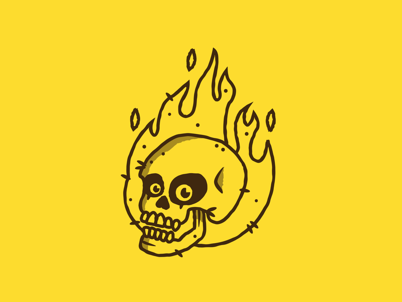 Inktober - Day 03 - Roasted vectober inktober roasted fire design graphic design illustration
