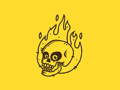 Inktober - Day 03 - Roasted vectober inktober roasted fire design graphic design illustration