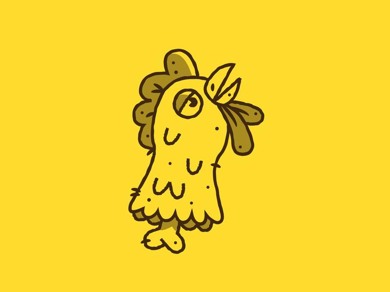 Inktober - Day 05 - Chicken chicken vectober inktober design graphic design illustration