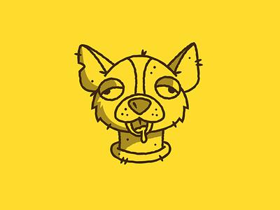 Inktober - Day 06 - Drooling drooling chihuahua dog vectober inktober design graphic design illustration