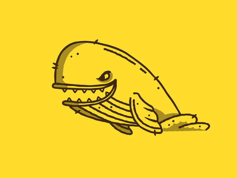Inktober - Day 12 - Whale pinocchio character design whale design graphic design illustration