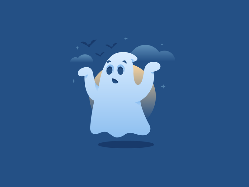 Boo 👻 scary halloween ghost design graphic design illustration
