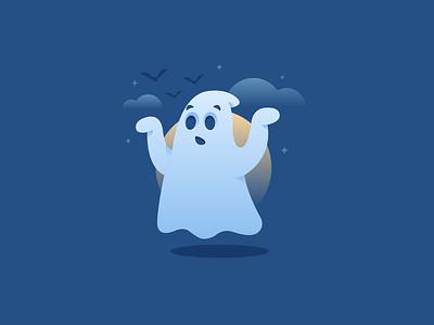 Boo 👻 scary halloween ghost design graphic design illustration