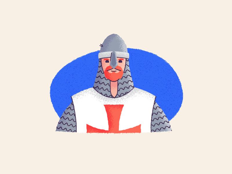Knighty Knight! ginger crusades texture knight design graphic design illustration