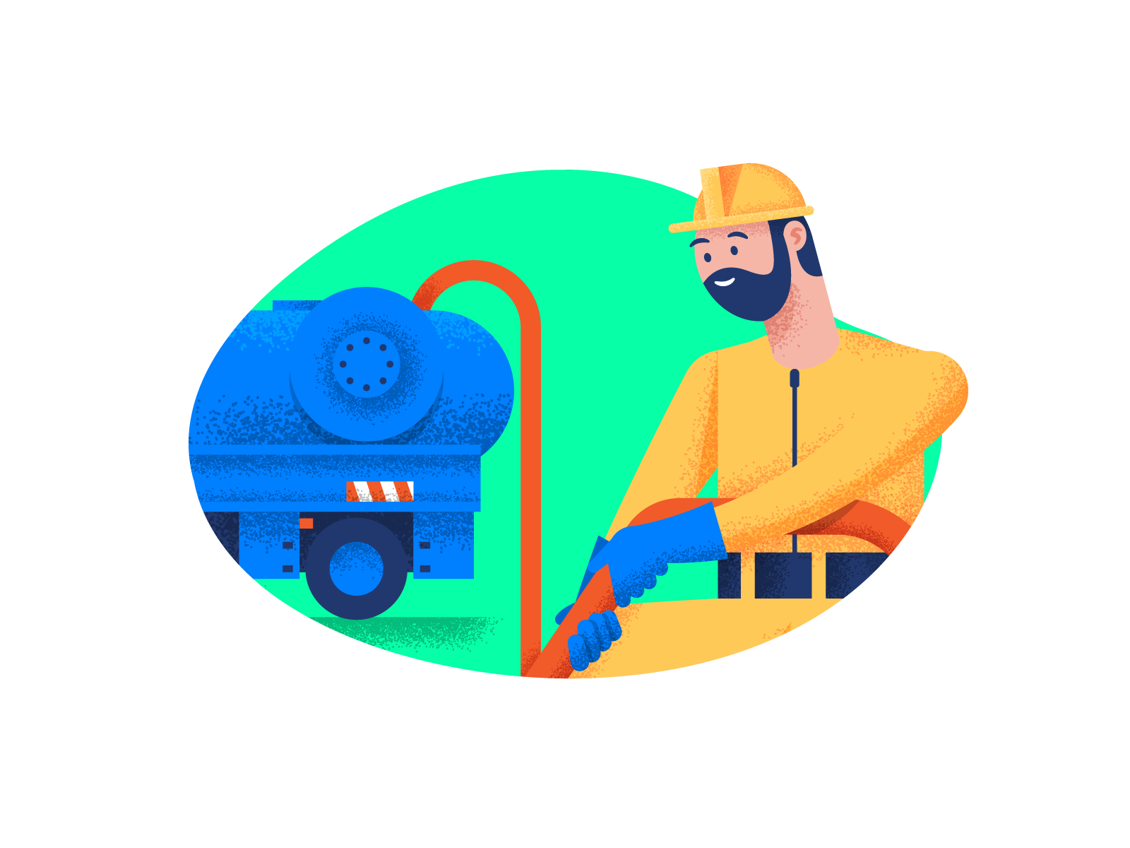 Character pump truck mobile suit dr