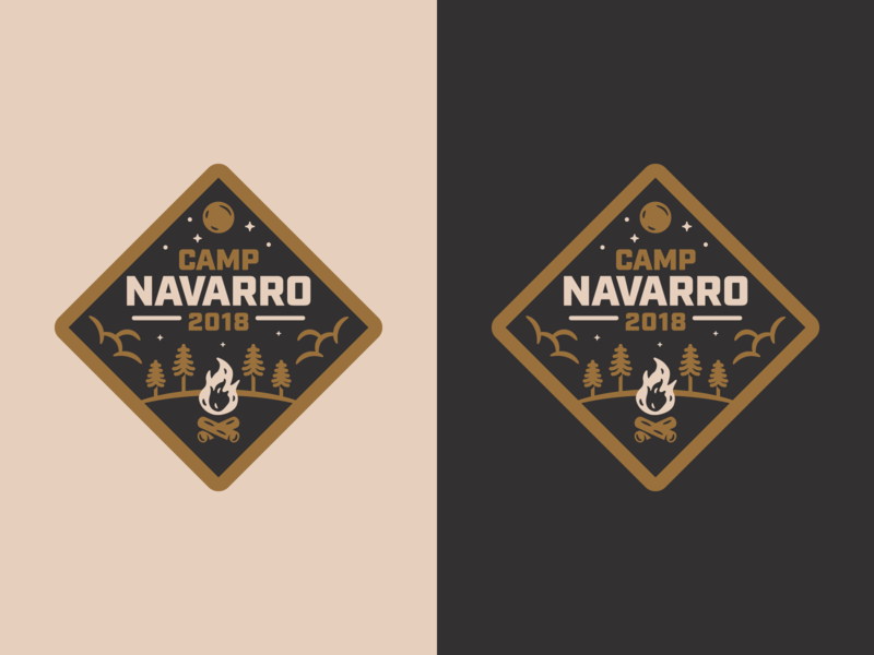 Camp Navarro Badge logo design graphic design outdoors camping illustration badge branding