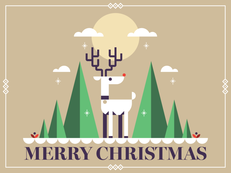 Merry Christmas 2018! holiday christmas vector branding design graphic design illustration