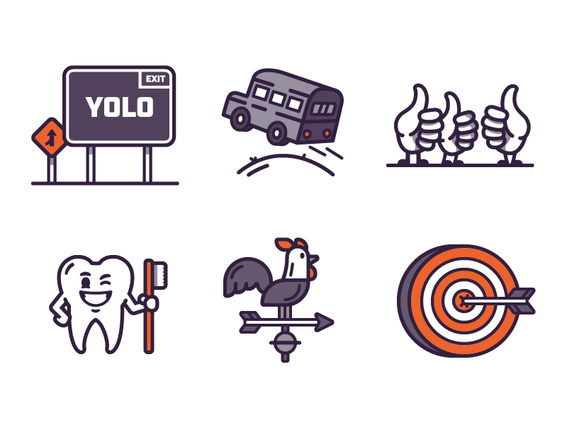 Little Tiny Small Illustrations Part Two graphic  design vector icons illustration design branding